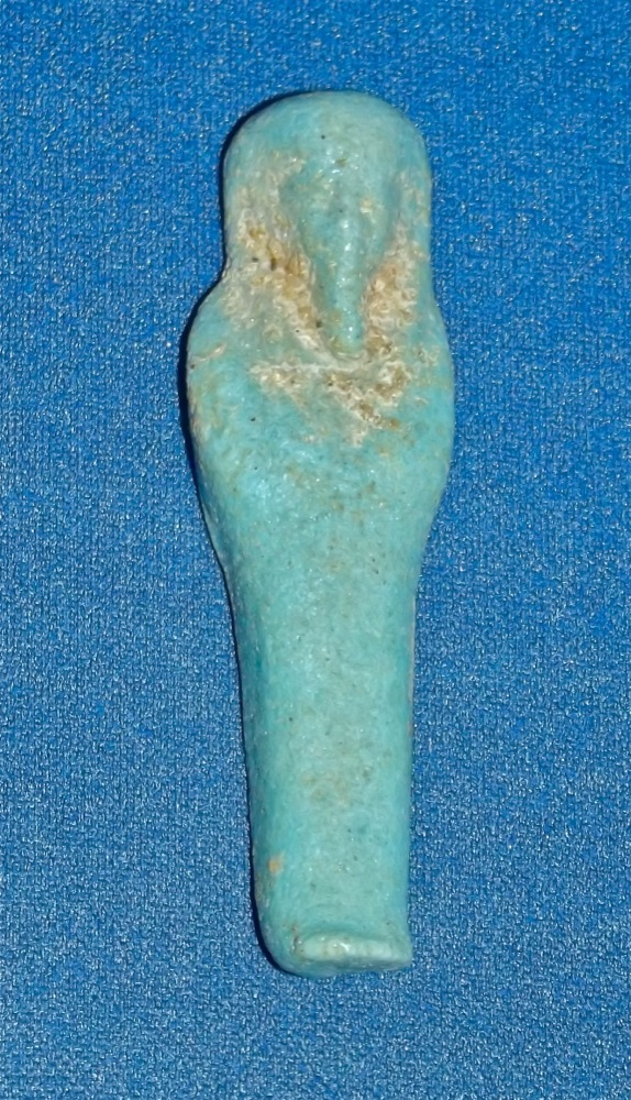 A small but pleasant ancient egyptian turquoise glazed for Faience turquoise
